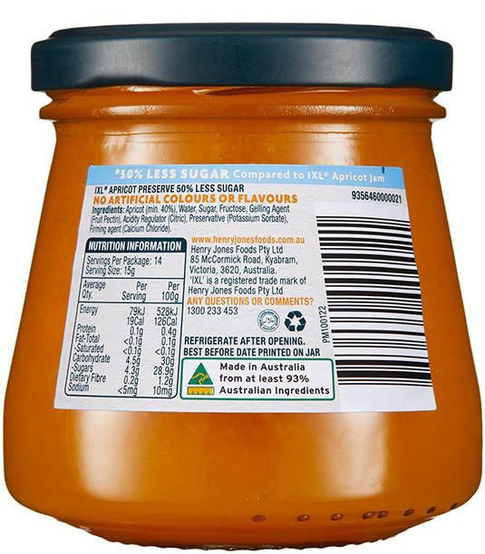Apricot 50% Less Sugar