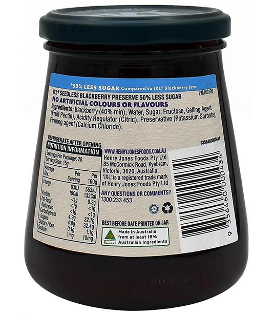 Seedless Blackberry 50% Less Sugar